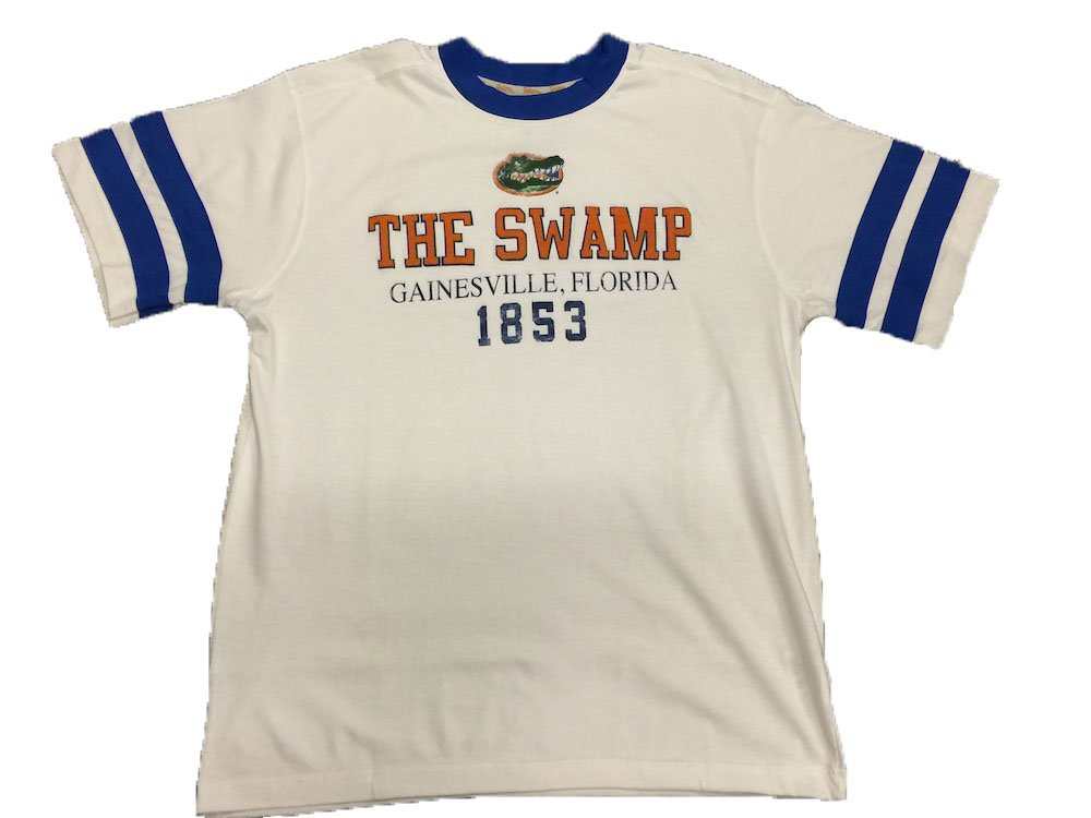 new product a187f 9dd16 Amazon.com : Florida Gators The Swamp White T-Shirt : Clothing