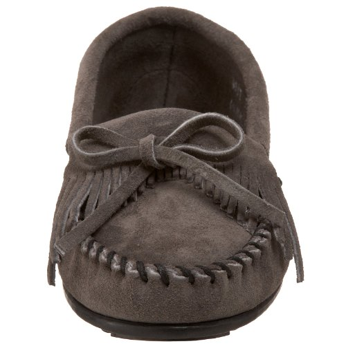 Suede Medium Grey Minnetonka Mocassino Greymedium Kilty donna Moc da Grigio q41CxRw4