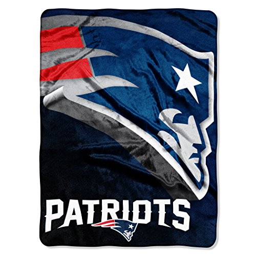 Blanket Patriots England Soft New (The Northwest Company Officially Licensed NFL New England Patriots Bevel Micro Raschel Throw Blanket, 60
