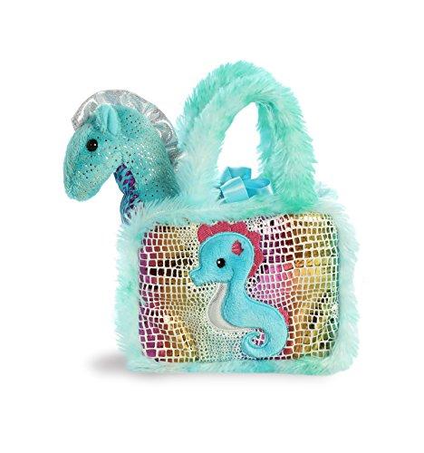 - Aurora World Pet Carrier Plush Toy Animal, Fancy Pals Seahorse, 6