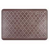 WellnessMats Estates Collection Essential Series Garnet Trellis 3 x 2 Foot Anti-Fatigue Mat