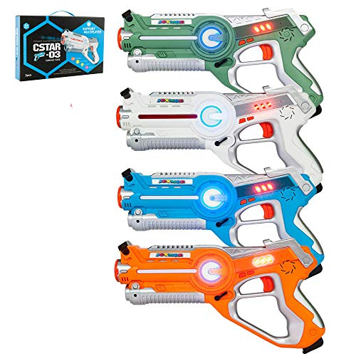 JOYMOR Laser Tag Guns Set of 4 Tag Blasters