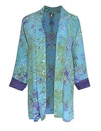 PLUS SIZE Cardigan   Handmade Kimono Style   Women Tunic Jacket, One Size 1x-3x