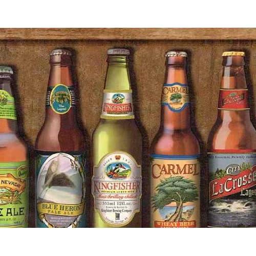 Beer Bottles Wallpaper Border - - Amazon.com