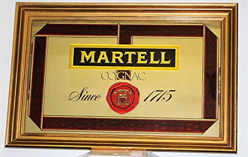 Hine Cognac - martell cognac Logo Since 1715 Mirror Gold Painted Wood Frame