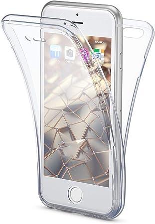 NALIA 360 Gradi Cover compatibile con iPhone SE 2020/8 / 7 Custodia, Sottile Fronte Retro Silicone Full-Body Integrale Case Protettiva, Telefono ...