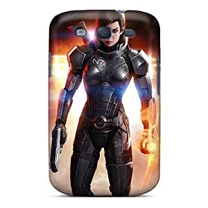 For Galaxy Case, High Quality Mass Effect 3 3d Femshep Commander Shepard For Galaxy S3 Cover Cases