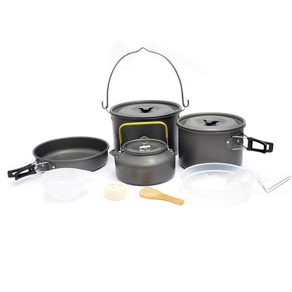Ensemble de cuisine en plein air Ensemble de batterie de cuisine pour camping Ensemble de batterie de cuisine portable équipement de cuisine Sac à dos Randonnée équipement de pique-nique en plein air  B