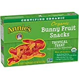 Annie's Organic Bunny Fruit Snacks, Tropical Treat, 5 Pouches, 0.8 oz Each (Pack of 4)