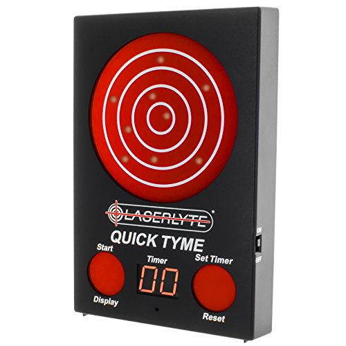 - LaserLyte Trainer Target Quick TYME with 62 LEDs That Light up Shot Timer Built in to Record Dry fire Laser Shots Laser Tracer FIRE The LEDs Light up in Order of Being Shot Buy a Laser Trainer
