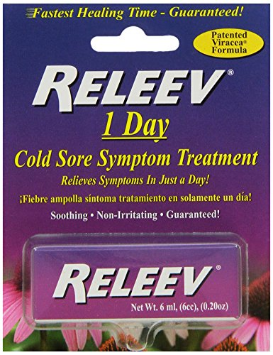 Releev 1 Day Cold Sore Treatment 6ML (Best Cold Sore Treatment Over The Counter)