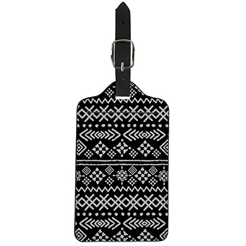 - FancyPrint Flowers Print Leather Luggage Tags Bag Label