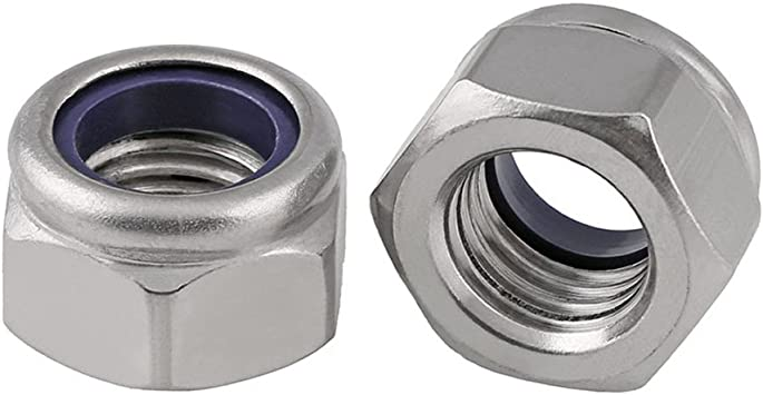 M2 Nyloc Locking Nut A2 Stainless Steel