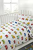 100% Cotton Kids Bedding 200 Thread Count Cars Traffic Planes Trucks Trains (Fitted Cot Bed Sheet 70x140cm)