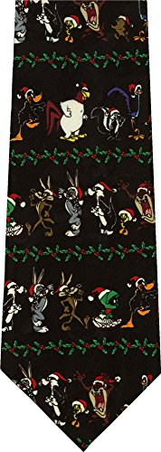 Looney Tunes Christmas Santa Hats New Novelty Tie (Necktie Looney Tunes)