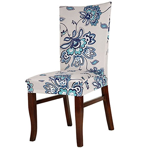 uxcell Stretch Spandex Short Dining Chair Covers Slipcovers Parson Chair Covers #8