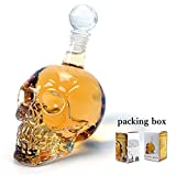 XOCOY Glass Skull Face Decanter Bottles Bottling (500_ML)