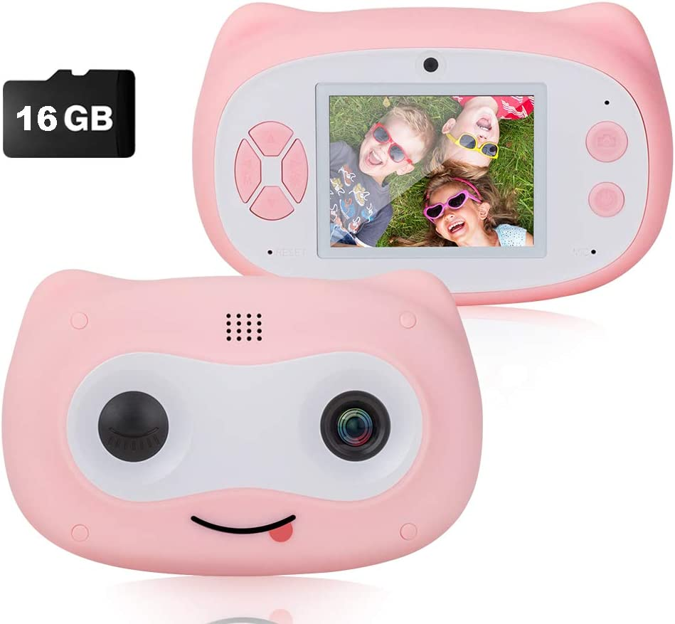 Blue Digital Dual Camera for Boys Gifts 8.0MP Rechargeable Children Camcorder with 2.8 Screen 4X Digital Zoom SUNGLIFE Kids Camera Gift for 3-12 Years Old Girls Boys Party Outdoor