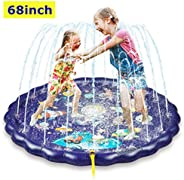 "Sprinkler & Splash Play Mat, 68"" Large Wading Pool Toy for Kids, Small Pool for Kids, Toddler Outdoor"