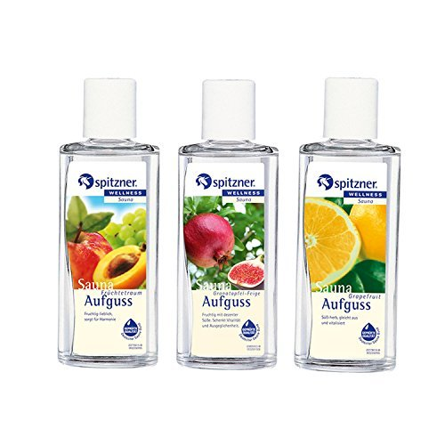 Fruity Sauna Infusion: Fruit Fantasy, Pomegranate & Fig, Grapefruit (3x190ml) from Spitzner