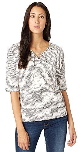 TOM TAILOR Camiseta 100 % algodón Mujer blanco grisáceo