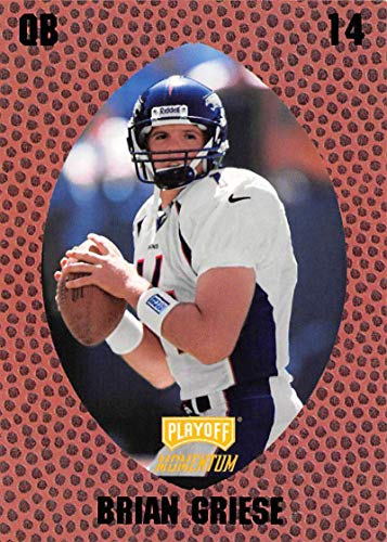 1998 Playoff Momentum Retail Football #99 Brian Griese RC Rookie Card Denver Broncos Official NFL Trading Card