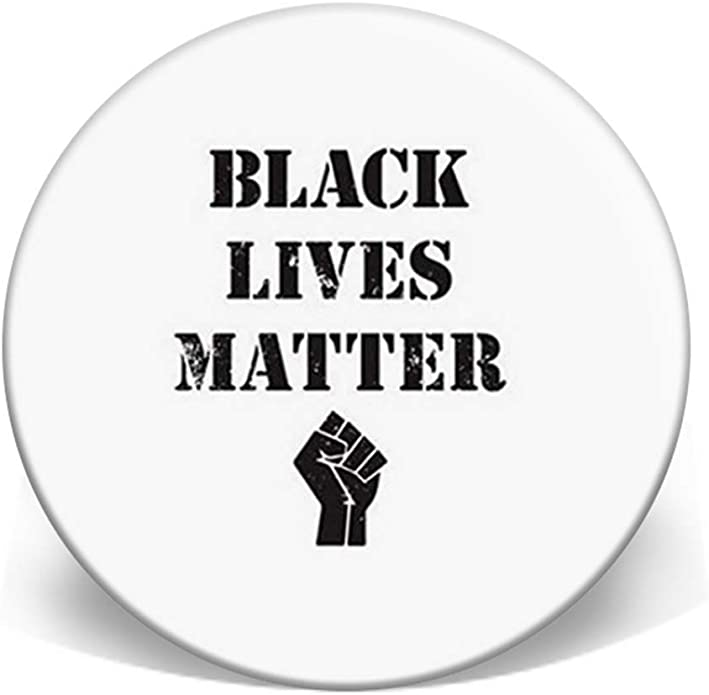 """BLACK LIVES MATTER BLM POWER FIST BUTTON PIN BADGE 25MM 1/""""INCH PROTEST POLICE"""