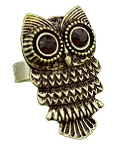 ncieEshop(TM) Adjustable Vintage Retro Nickel Pewter Owl Ring-Bronze +niceEshop Cable Tie