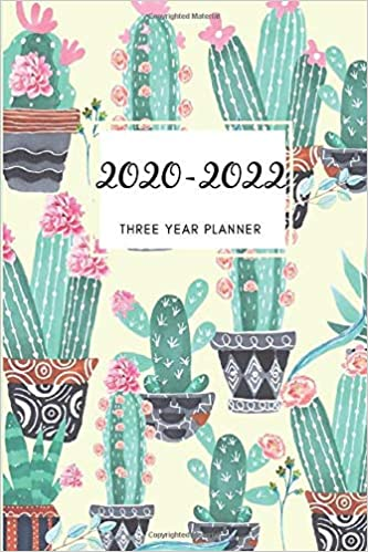 3 Year Planner 2020-2022 Cactus Succulent Three Years ...