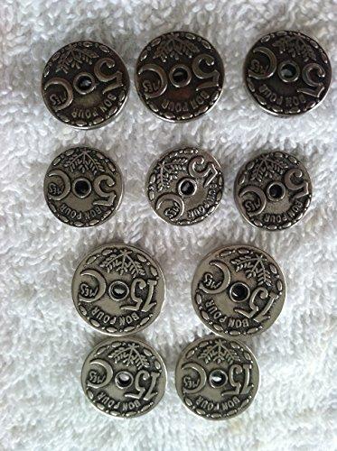 Antique Silver Designer Buttons Sets for Suit & Blazers 10 Pc. (18)