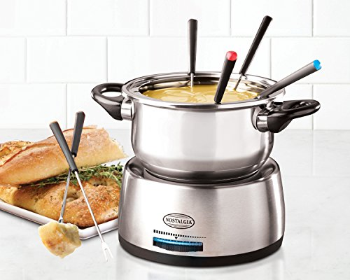 082677217103 - Nostalgia FPS200 6-Cup Stainless Steel Electric Fondue Pot carousel main 3