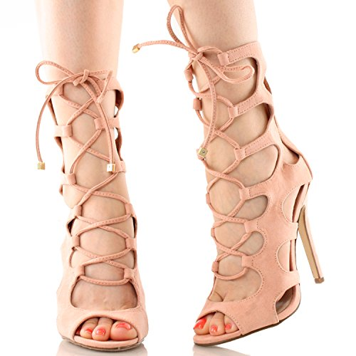 Nude Gladiator Heels