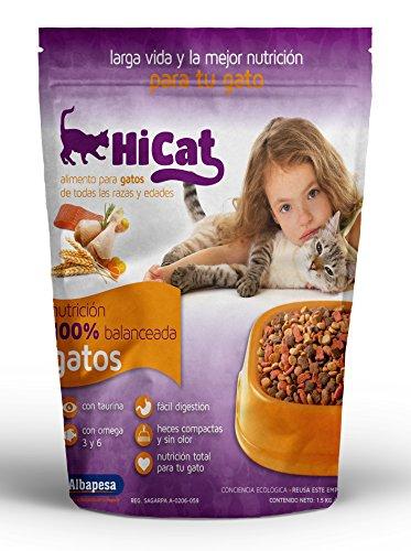 Alimento para Gatos HI CAT. Paquete de 6 piezas de 1.5kg c/u. Nutrición Total para gatos de todas las edades.