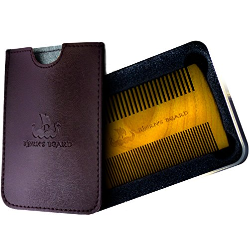 Beard Comb - Pocket Grooming Kit for Stylish Men - Polished Wood Beard Comb Made of Superior - Stylish Beard Men For