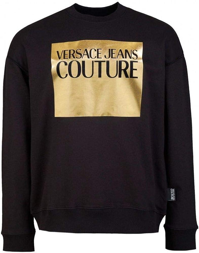 VERSACE JEANS COUTURE Mens Foil Block Logo Sweatshirt S