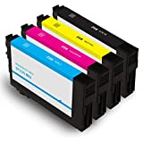 Summit Ink Remanufactured for Epson 802 Ink Cartridge 4 Pack for Workforce Pro WF-4720 WF-4730 WF-4734 WF-4740 Printers