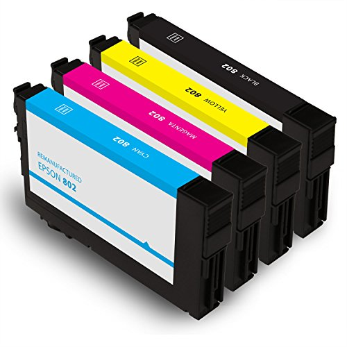 OCProducts Remanufactured Ink Cartridge Replacement for Epson WF-4720 ( Black,Cyan,Magenta,Yellow , 4-pack)