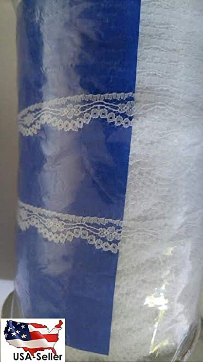 Wholesale 2  10  50 yards white stretch double scalloped lace trim 1 14 S5-6