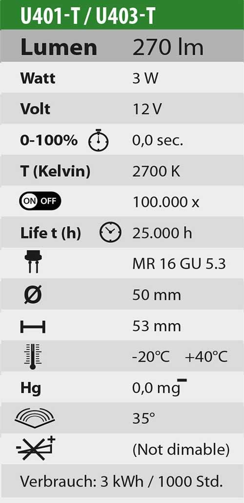 s Iluminaci/ón acu/ática , 35/° Heissner U401-T Blanco c/álido LED Empotrada iluminaci/ón subacu/ática LED, Blanco c/álido, LED, 2700 K, 1 l/ámpara