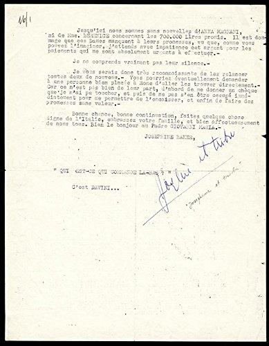 Josephine Baker – Typed Letter Signed 02/19/1965