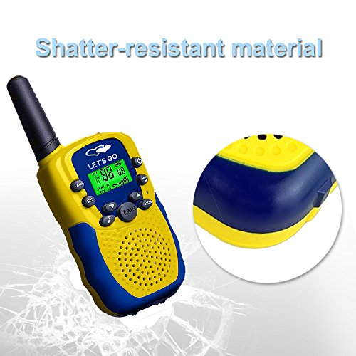 Walkie Talkies for Kids Boys Girls, Ouwen Long Range Walkie Talkies for Kids Popular Hottest Outdoor Toys for 3-12 Year Old Boys Girls Presents Gifts for 3-12 Year Old Boys Girls Yellow Blue OWUSDD09 by Ouwen (Image #4)