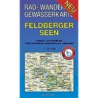 Rad-, Wander- und Gewässerkarte Feldberger Seen: Mit Carwitz, Boitzenburg, Fürstenwerder, Bredenfelde, Arendsee. Maßstab 1:35.000. Wasser- und ... Gewässerkarten Mecklenburgische Seenplatte