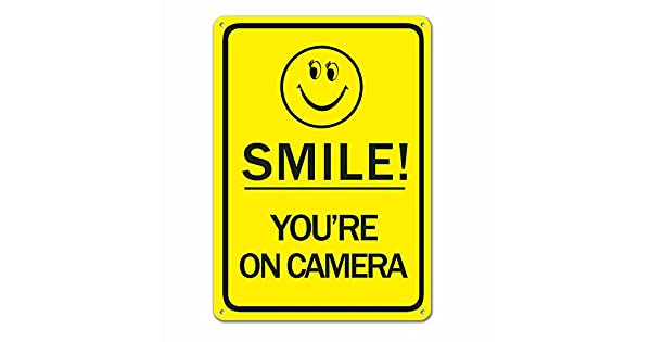 Amazon.com: Smile You 're on camera Video Surveillance ...