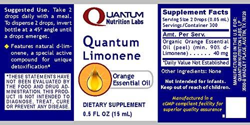 Amazon.com: Quantum limonene, 300 Porciones – Orgánico ...