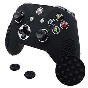 Xbox-One-S-Xbox-One-X-Funda-Silicona-2-Grips-Texturizados-Negro