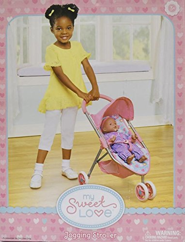 My Sweet Love Doll Hearts Jogging Stroller
