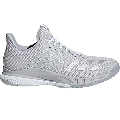 adidas Women's Crazyflight Bounce 2 Volleyball Shoe White/Silver Metallic/Grey 7.5 M US