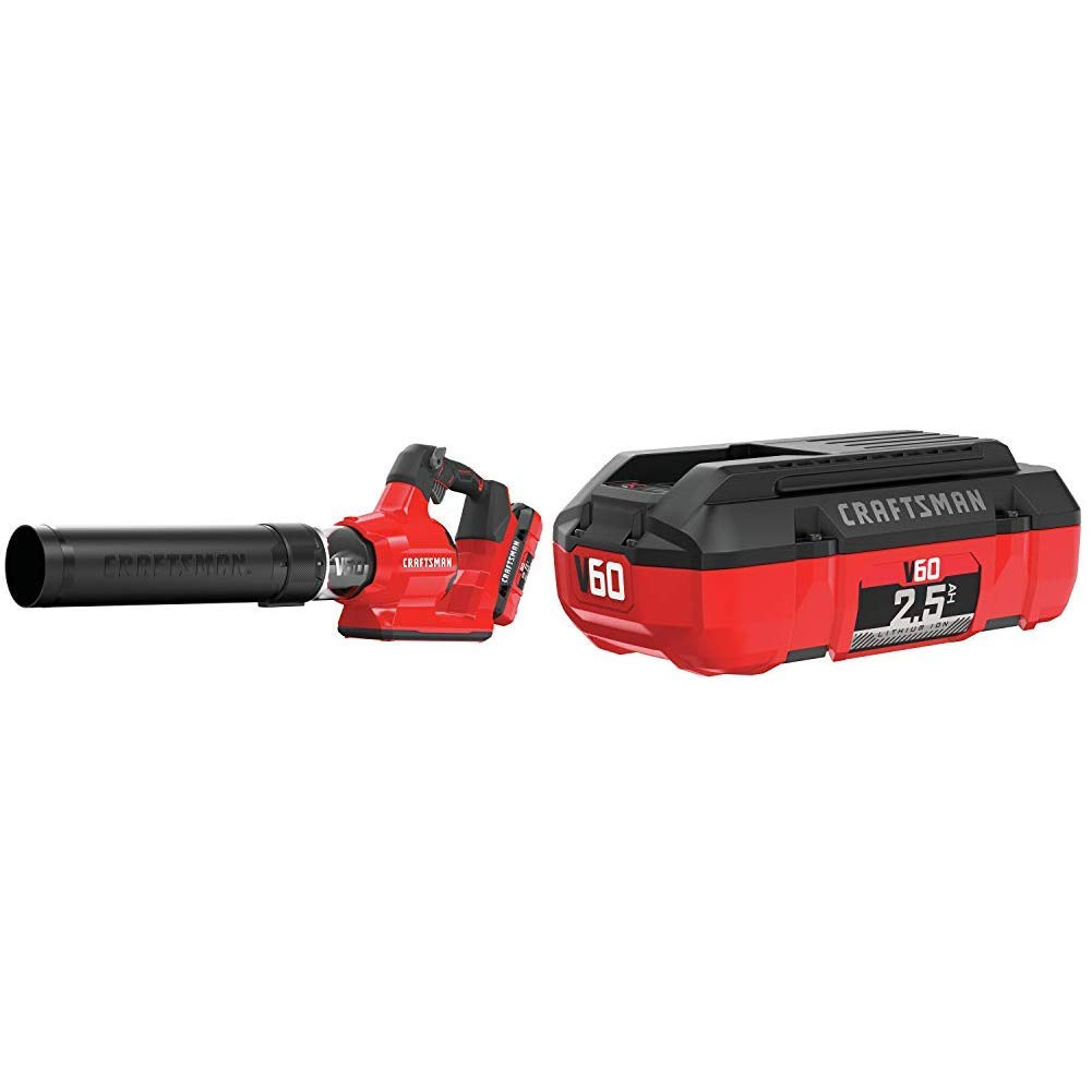 CRAFTSMAN CMCBL760E1 V60 Axial Blower with CMCB6025 V60 2.5AH Lithium Ion Battery