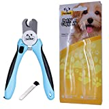 Dog Nail Clippers - Nail File Trimmer to Smooth Out Nails - Quick Safety Guard to Avoid Overcutting - Best for Small, Medium or Large Dogs - 100% Life Time Guarantee - Free eBook