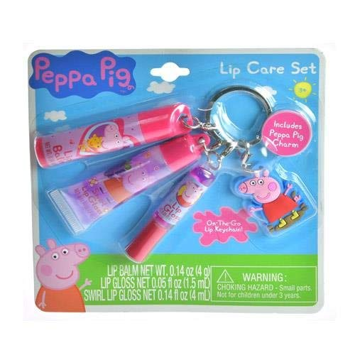 - Peppa Pig Keychain with Charm and Lip Care Accessories Backpack Charm (Peppa)